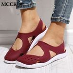 Soft Flat Slip On Hollow Out Mesh Flats Shoes