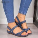 Casual Vintage  Flat Open Toe Non-slip Sandals