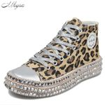 Sexy Leopard Print fashion  Canvas Low High Top  Sneakers
