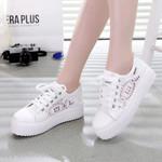 Fashion Casual Lace-up Canvas Platform Shoes