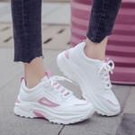 Fashion  Leather  Lace Up Platform  Casual Shoes