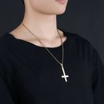 Fashion Stainless Steel Cross Pendant Necklace