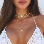 Long Chain Shell Trendy Necklace