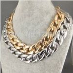 Fashion Concise  Punk Metal Chunky Chain Choker Necklace