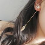 Jewelry   Fashion pearl Dangle Stone Long Drop Earrings