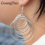 Party Sexy Fashion Jewelry  Punk Big Circle Drop Earrings