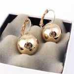 Fashion Jewelry Big Round Ball Pendant  Plated Earrings