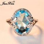 Zircon Vintage Egg Crystal Big Stone Rings