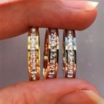 Vintage Stainless Steel Fashion Crystal CZ Stone Ring