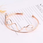 Wave Heartbeat  Love Cuff Bracelet