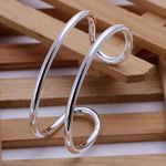 fashion jewelry Round Double Line  plated bangle