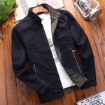 Stand Collar 2 Side Wear Cotton  Fashion  Casual Bomber Jacket