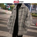 Plaid Wool Windbreaker Fashions Coats