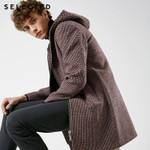 Woolen Hooded Long Coat
