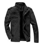 Military  Cotton  Army slim Air Force Spring Cargo Denim Jacket