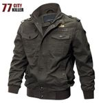 Military Pilot Bomber Cotton  Army  Casual Denim Jacket
