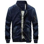 Military Air Force Pilot  Denim Jacket