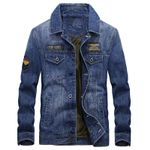 Vintage Outerwear Casual  Denim Jackets