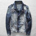 Casual Suit  European Style Biker Denim  Jacket