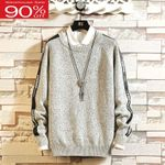 Knitted Teenage O-Neck Korean Sweater