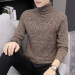 Casual  High collar Slim Fit Knitted Pullovers  Turtleneck Sweater