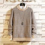 Striped Knitted Style Casual  Pullovers Sweaters