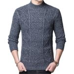 knitted  Casual Standard Long Sleeve Sweaters
