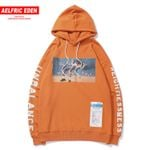 Fashion Letter Printed Hip Hop Pullover Casual Cotton Hoodies
