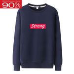 warm comfortable thick pullover letter sweatshirt