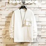 Cotton  Casual Pocket Pullover  Hip-Hop Sweatshirt