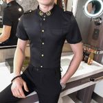 Casual Luxury Slim Fit Short Sleeve Shirt