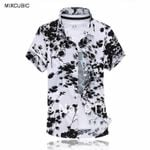 flowers printed loose Glossy short-sleeved shirts