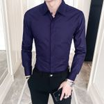 Casual Slim Fit Social  Cotton Dress Shirts