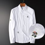 Luxury Flower Business Casual Dress Shirt