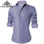 Fashion Slim Fit Casual Long Sleeve Turn-Down Collar Dress Shirts