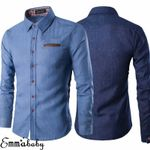 Fashion Denim Casual  Slim Fit Luxury  Dress Shirts