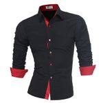 Long Sleeve Casual Slim Fit  Dress Shirts