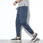 Cotton Comfortable Pencil Drawstring  Cargo Pants