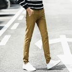 Cotton Slim Chinos Fashion  Business Casual  Pants