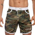 Slim  Gyms Fitness  Casual Fashion  Camouflage Shorts