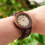 Quartz Wrist  Luxury Ebony Wooden Watch