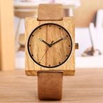 Lightweight Bamboo Leather Band Wooden Watches