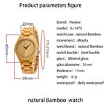 Casual Office  Calibration Quartz Wood Watch