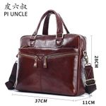 Genuine leather  business  Capacity  Handbags