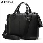 genuine leather laptop  business handbags
