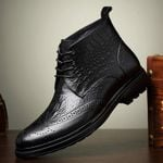 Casual  Walking Comfortable  Cow genuine leather  Ankle Boots