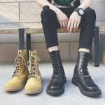Round Toe Fashion Lace Up Combat Tactical Ankle Boots
