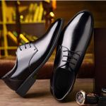 Leather Pointed Fashion  Formal Oxford Shoes