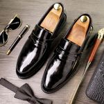 Loafers Leather Shoes  Party oxfords shoes
