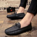 Fashion Leather Breathable Flat Casual Shoes